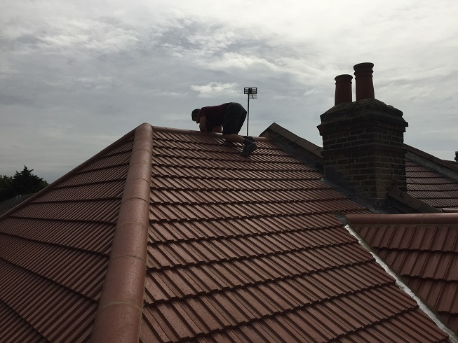 Finished roof refurbishment