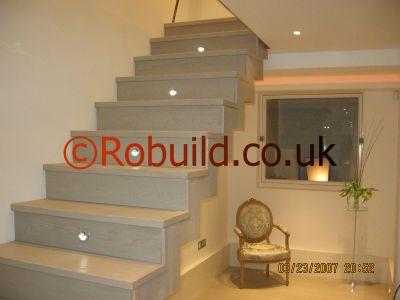 staircase lights hallway