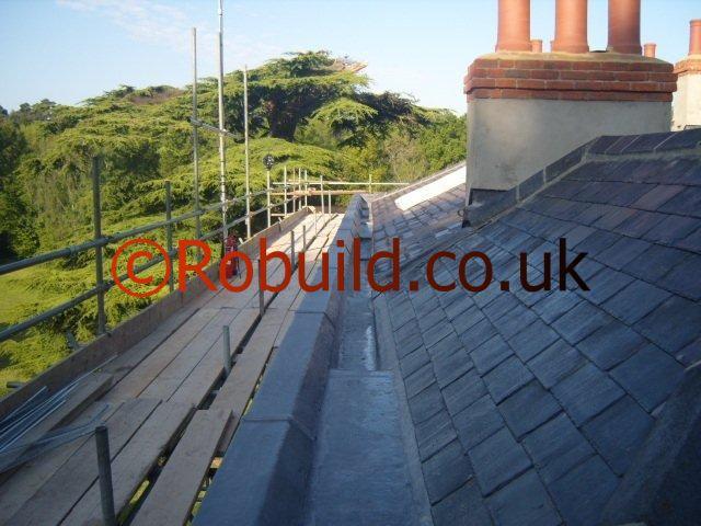 lead gutter roofing