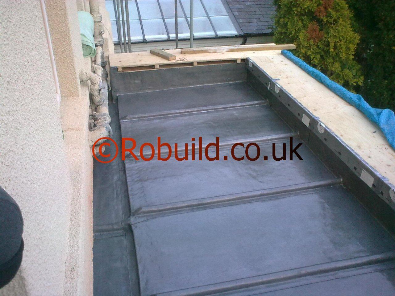 lead guttering flat roof